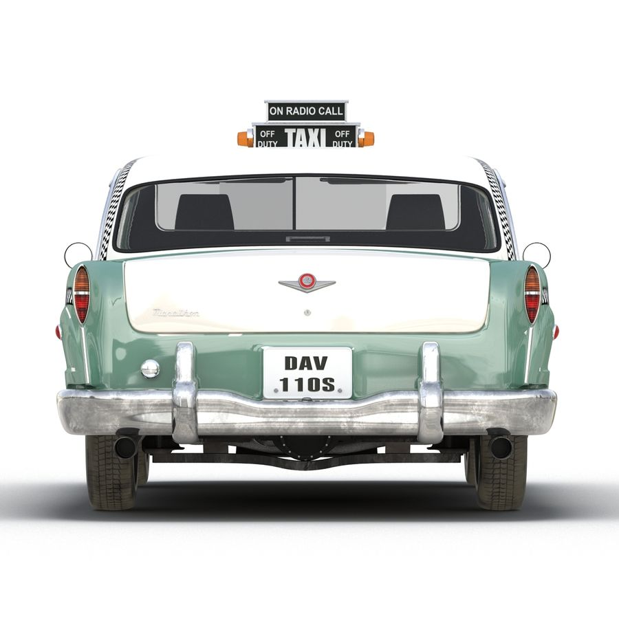 Checker Taxicab 1982 royalty-free 3d model - Preview no. 12
