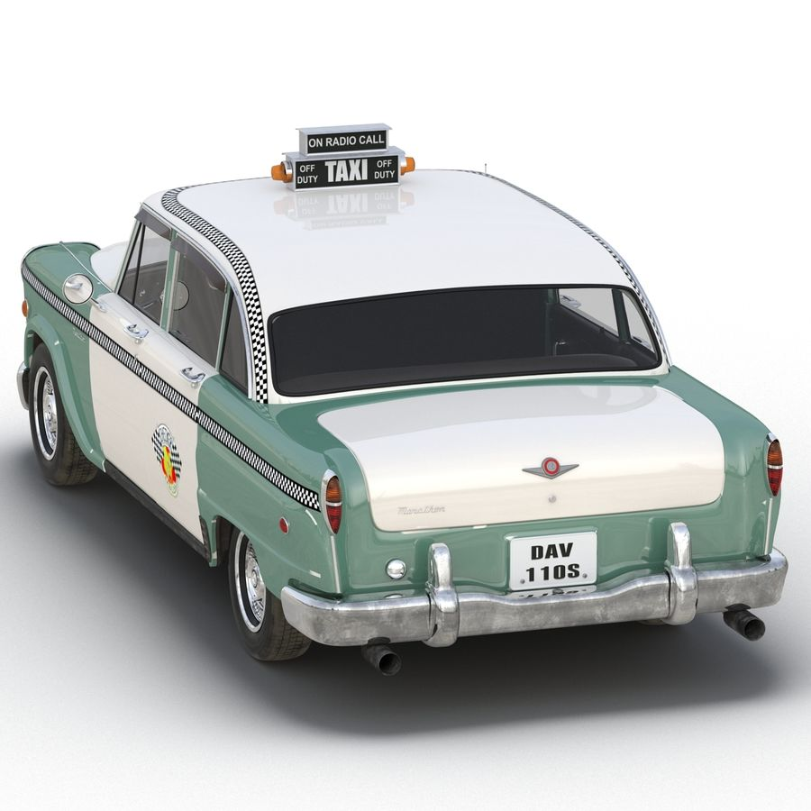 Checker Taxicab 1982 royalty-free 3d model - Preview no. 18