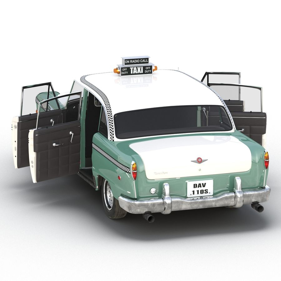 Checker Taxicab 1982 royalty-free 3d model - Preview no. 19
