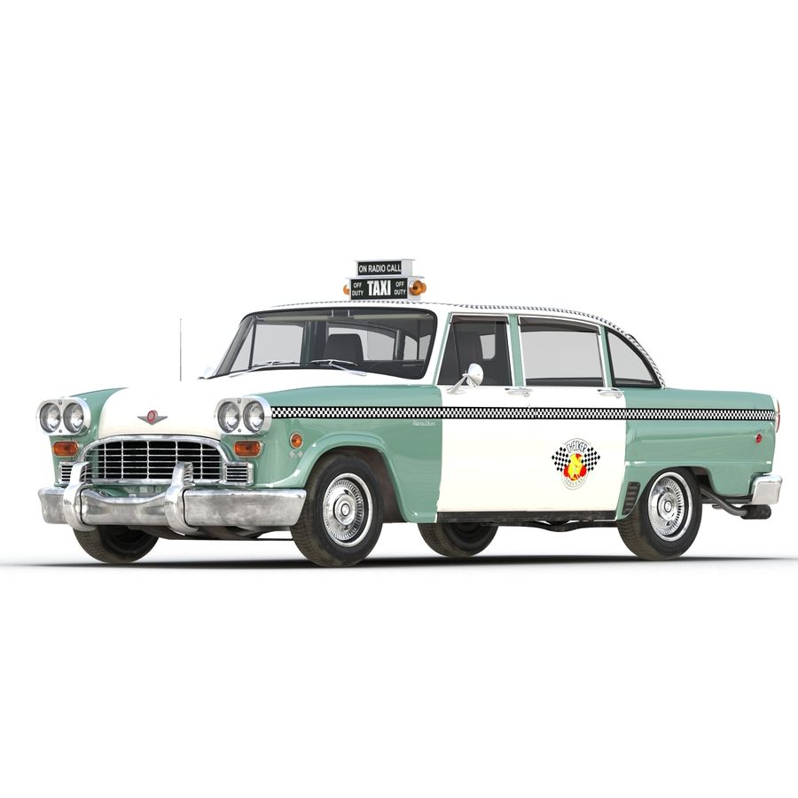 Checker Taxicab 1982 royalty-free 3d model - Preview no. 4