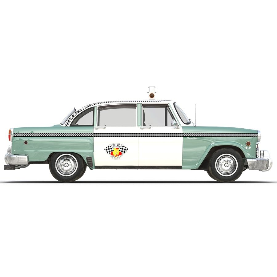 Checker Taxicab 1982 royalty-free 3d model - Preview no. 9