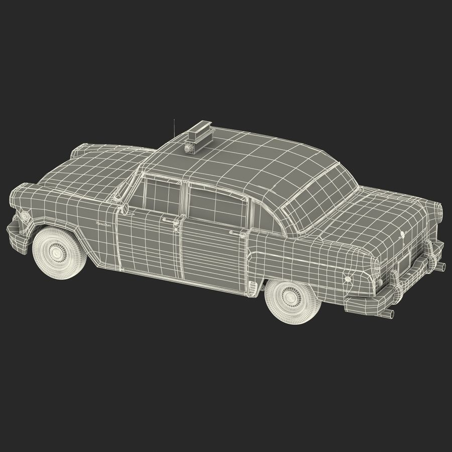 Checker Taxicab 1982 royalty-free 3d model - Preview no. 49