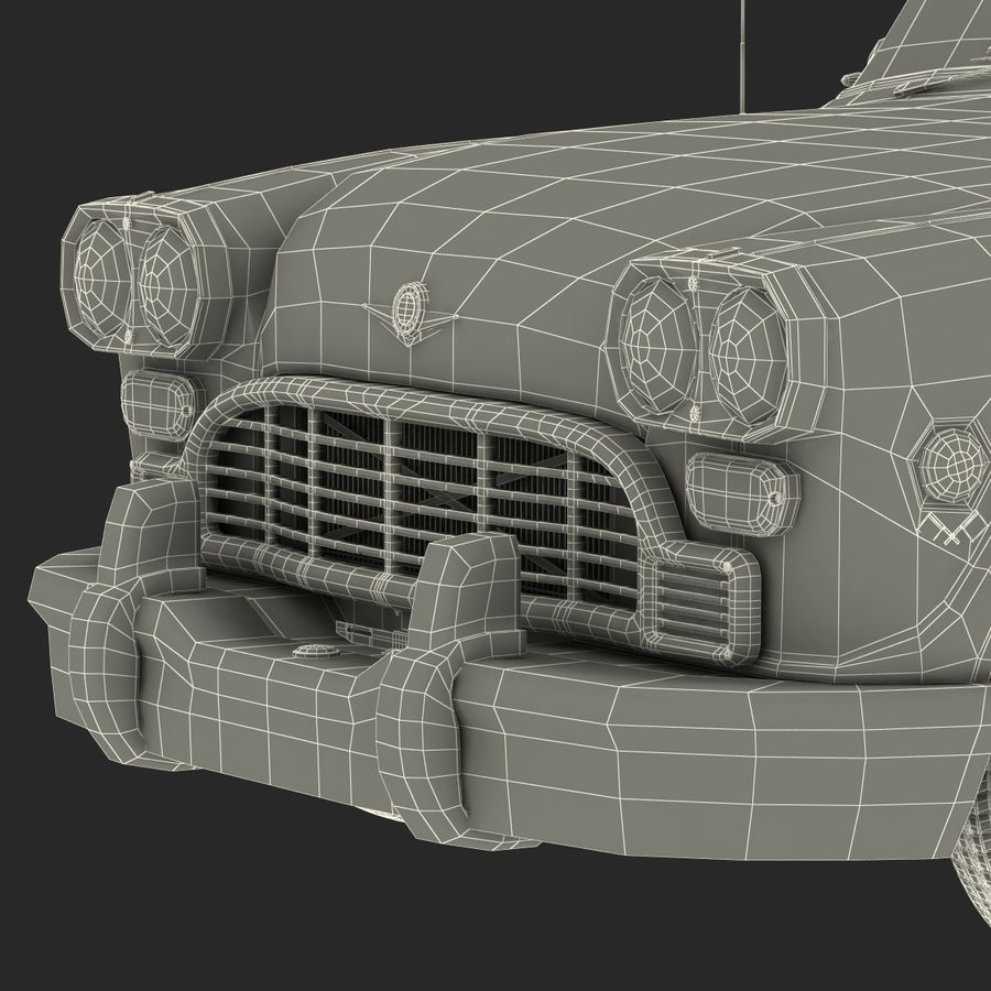 Checker Taxicab 1982 royalty-free 3d model - Preview no. 58