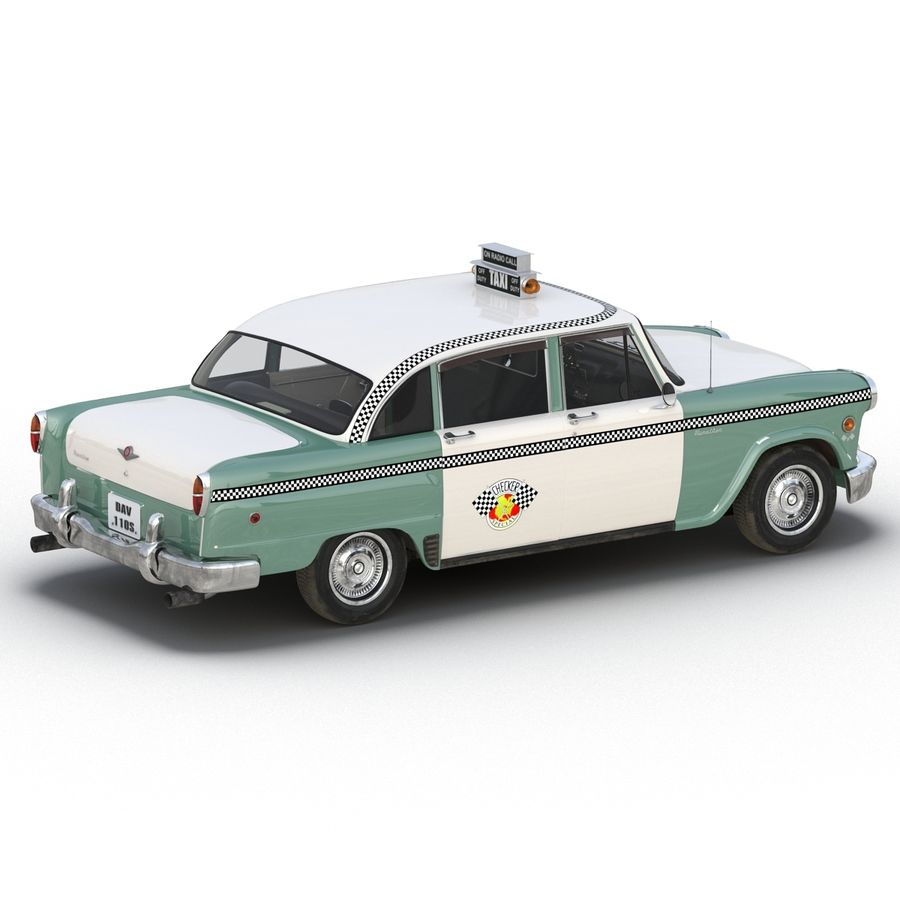 Checker Taxicab 1982 royalty-free 3d model - Preview no. 17