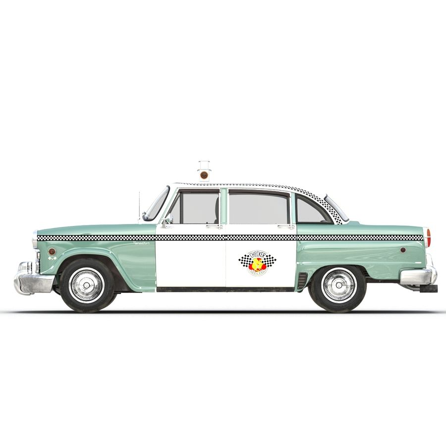 Checker Taxicab 1982 royalty-free 3d model - Preview no. 3