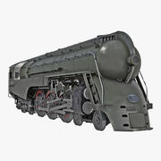 NYC Dreyfuss Hudson Steam Locomotive Rigged 3D Model 3d model