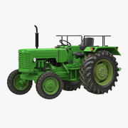 Modelo 3D genérico de tractor aparejado modelo 3d