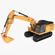 トラック掘削機 3d model