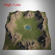 Paesaggio di montagna 3d model
