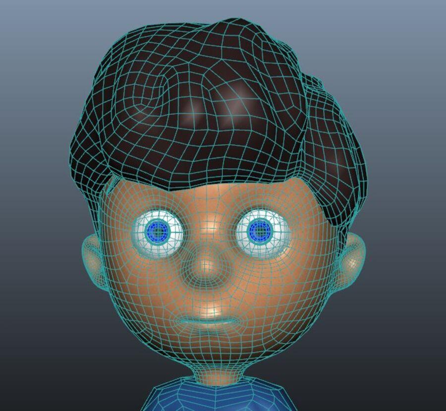 Kid Boy Cartoon royalty-free 3d model - Preview no. 8