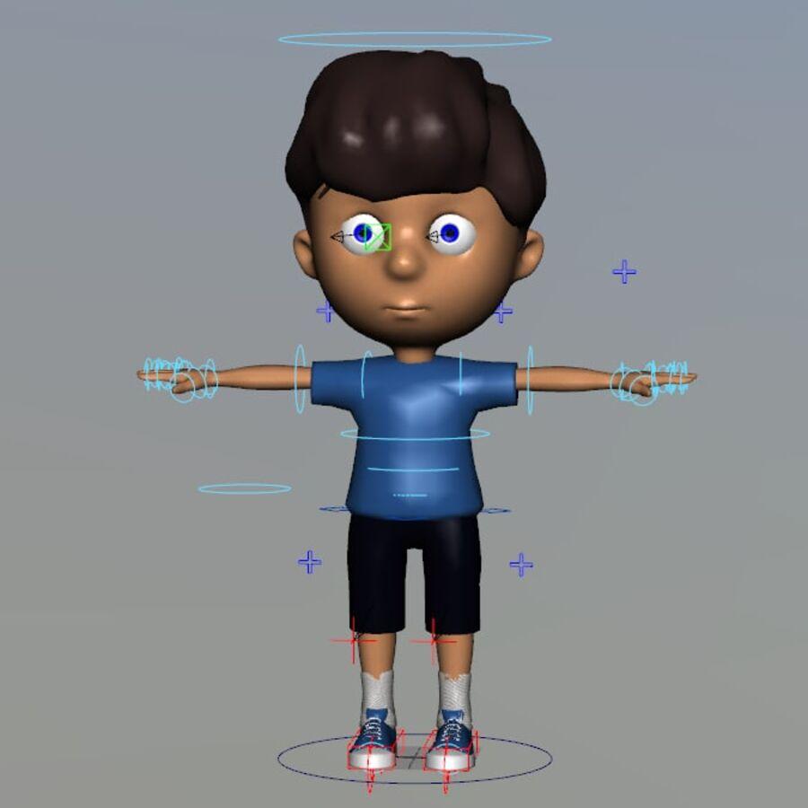 Kid Boy Cartoon royalty-free 3d model - Preview no. 3
