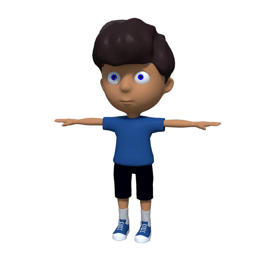 Kid Boy Cartoon royalty-free 3d model - Preview no. 1