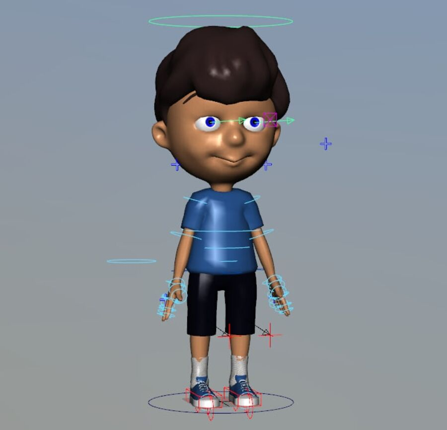 Kid Boy Cartoon royalty-free 3d model - Preview no. 4