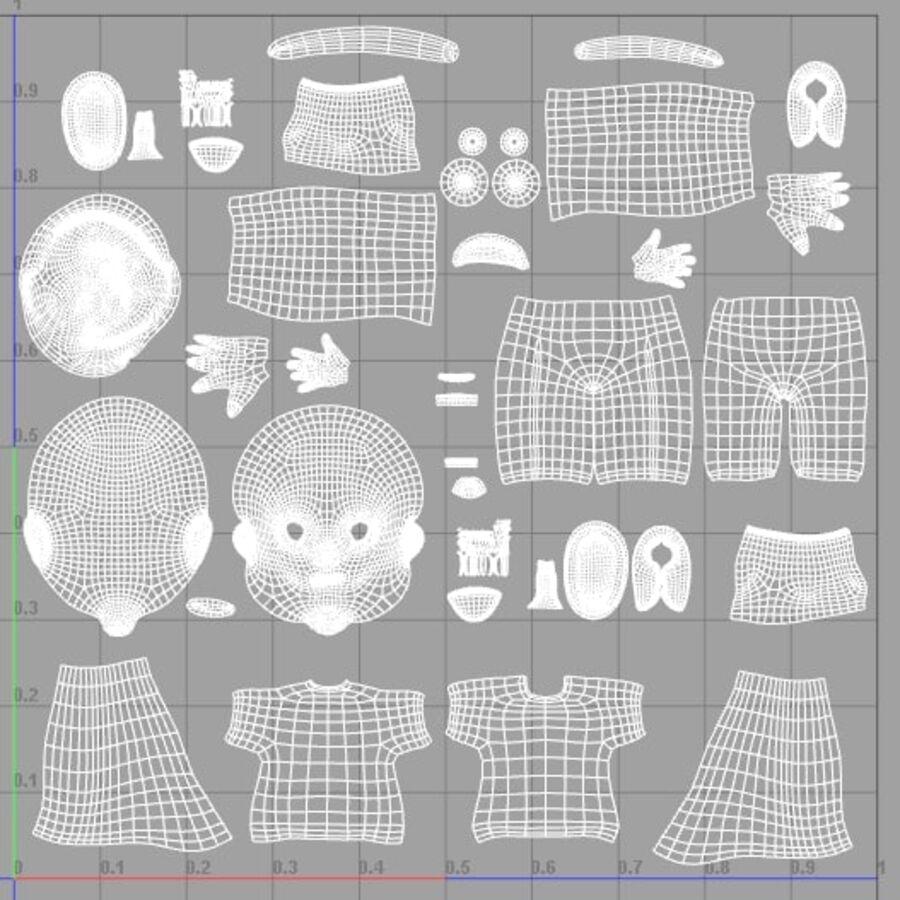 Kid Boy Cartoon royalty-free 3d model - Preview no. 10