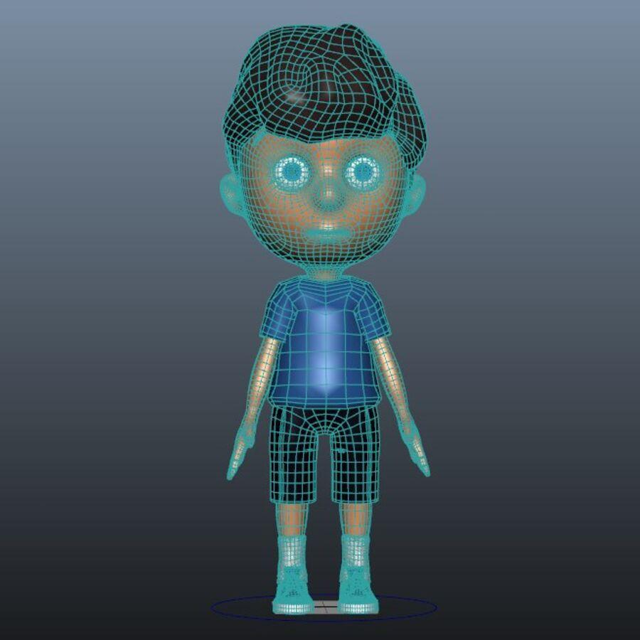 Kid Boy Cartoon royalty-free 3d model - Preview no. 7