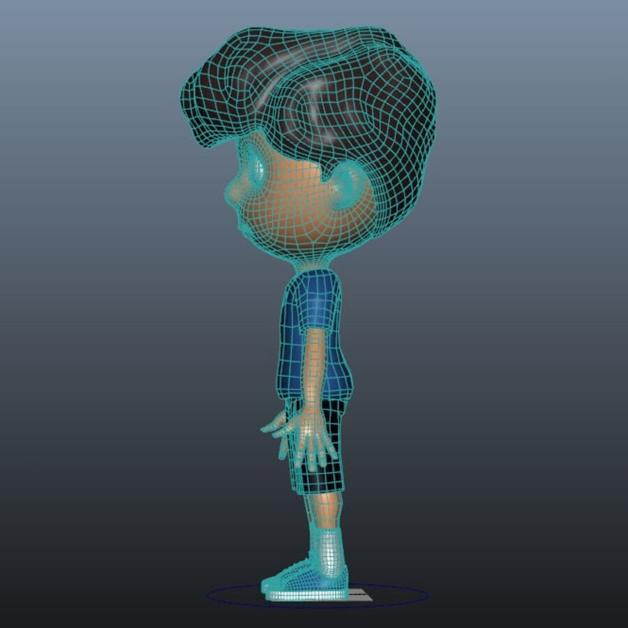 Kid Boy Cartoon royalty-free 3d model - Preview no. 6