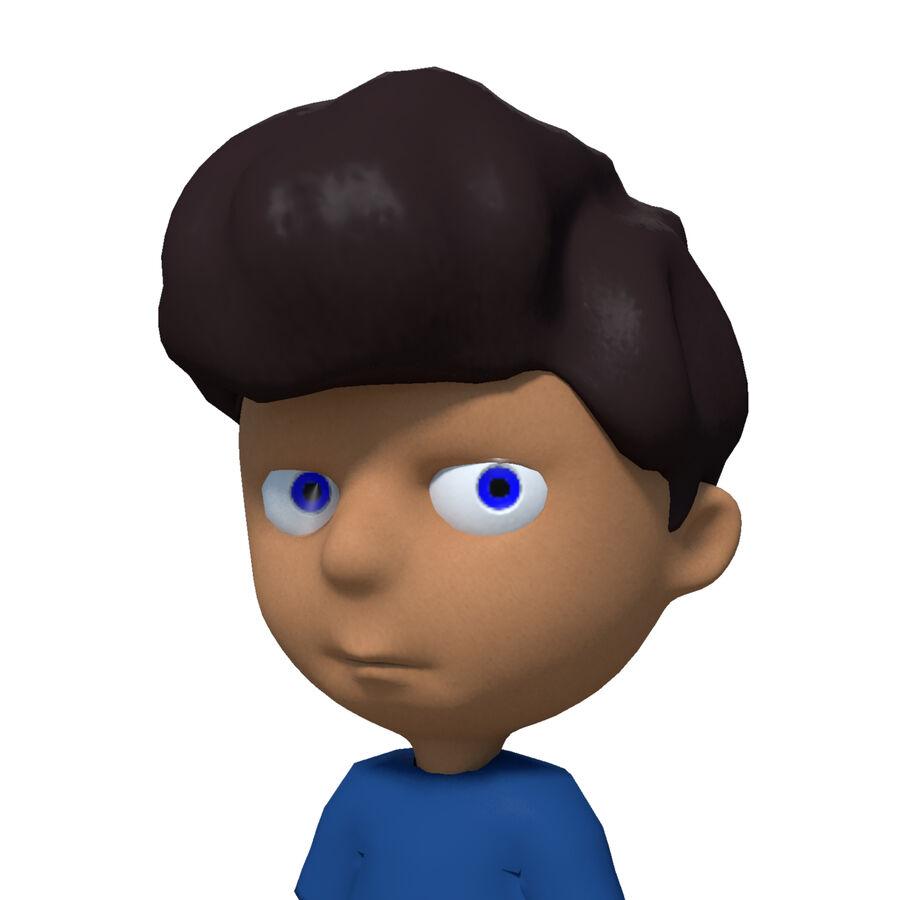 Kid Boy Cartoon royalty-free 3d model - Preview no. 2