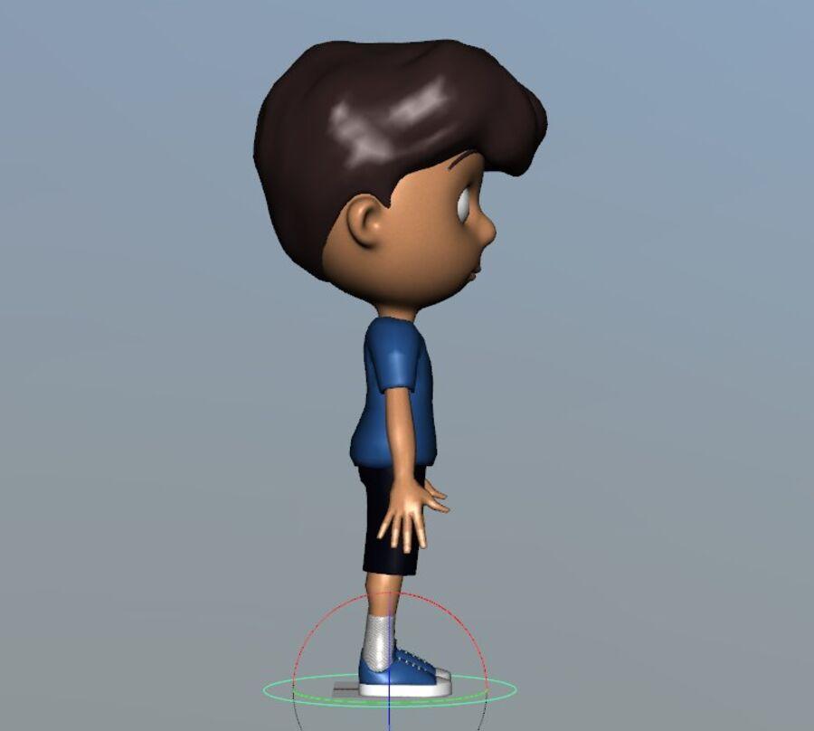 Kid Boy Cartoon royalty-free 3d model - Preview no. 5