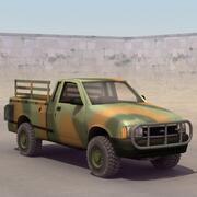 Camioneta del ejército modelo 3d