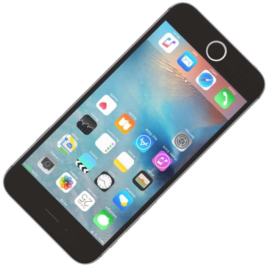 Apple iPhone 6s ve Artı royalty-free 3d model - Preview no. 10
