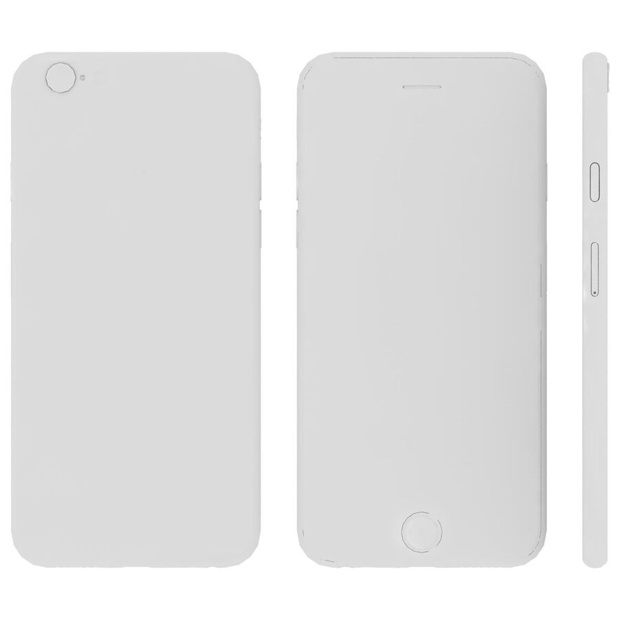Apple iPhone 6s ve Artı royalty-free 3d model - Preview no. 26