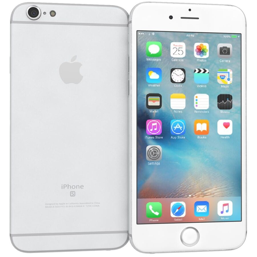 Apple iPhone 6s 및 Plus royalty-free 3d model - Preview no. 2