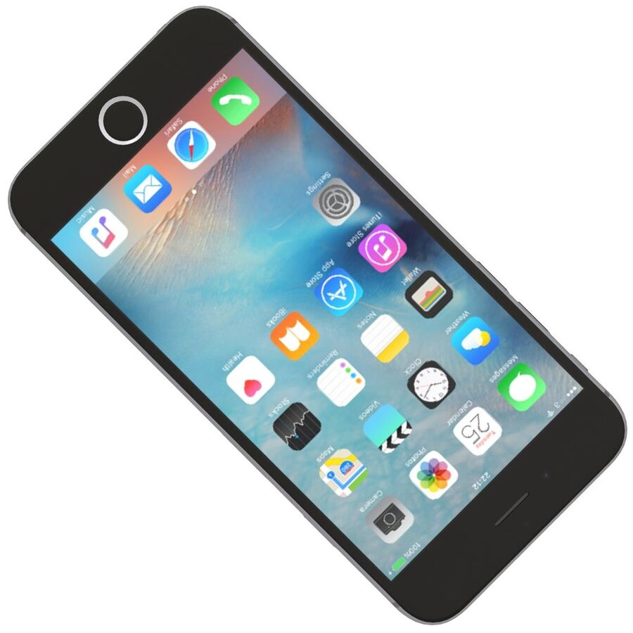 Apple iPhone 6s ve Artı royalty-free 3d model - Preview no. 9