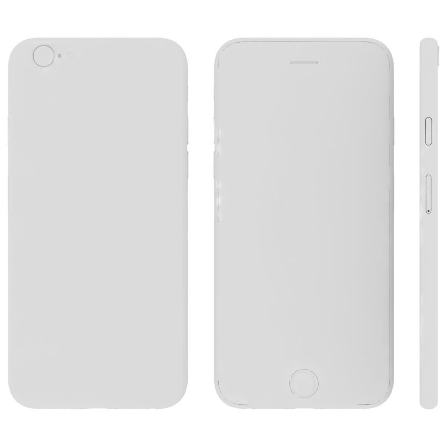 Apple iPhone 6s ve Artı royalty-free 3d model - Preview no. 30