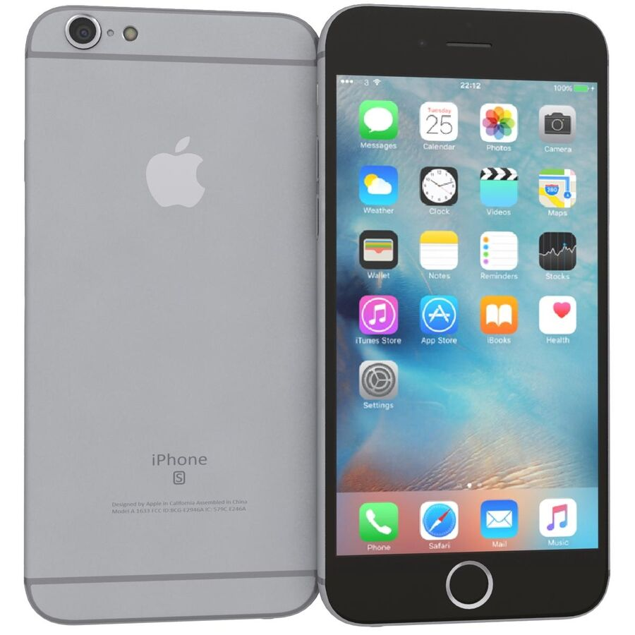 Apple iPhone 6s 및 Plus royalty-free 3d model - Preview no. 7