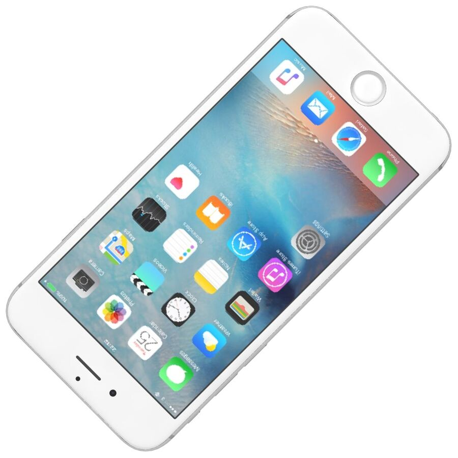 Apple iPhone 6s 및 Plus royalty-free 3d model - Preview no. 5