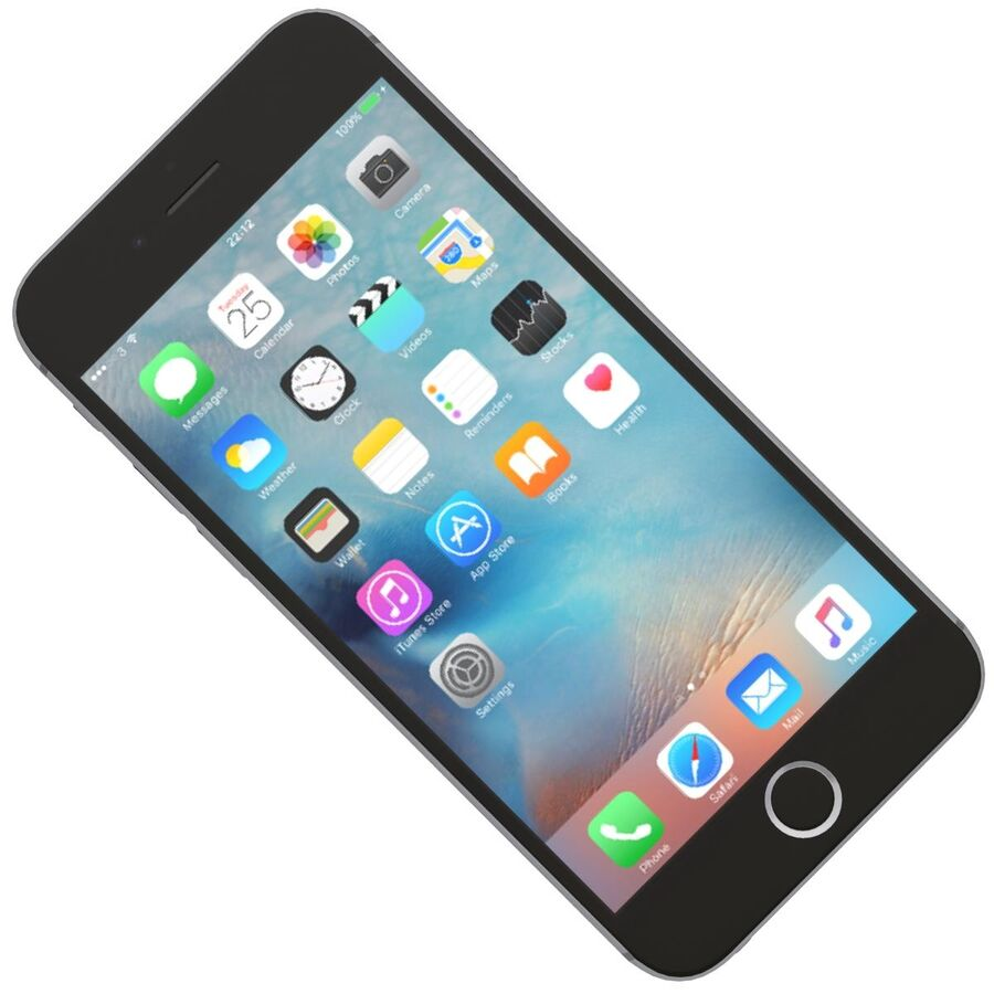 Apple iPhone 6s 및 Plus royalty-free 3d model - Preview no. 11