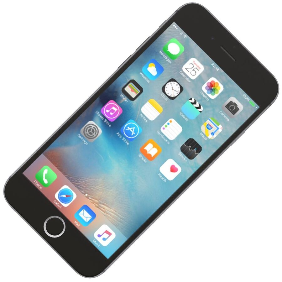 Apple iPhone 6s 및 Plus royalty-free 3d model - Preview no. 8