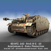 StuG III - Ausf.G - 10 - Раннее производство 3d model