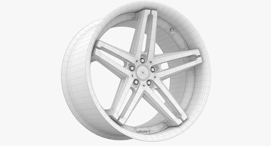 Rims Collection - Asanti & Brabus & HRE & Lexani & Rotiform & Vossen & Vorsteiner & WALD royalty-free 3d model - Preview no. 54