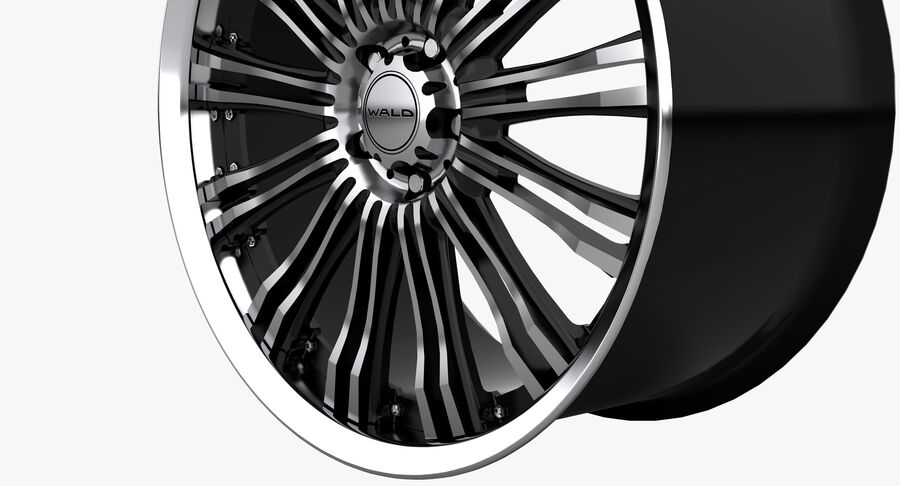 Rims Collection - Asanti & Brabus & HRE & Lexani & Rotiform & Vossen & Vorsteiner & WALD royalty-free 3d model - Preview no. 51