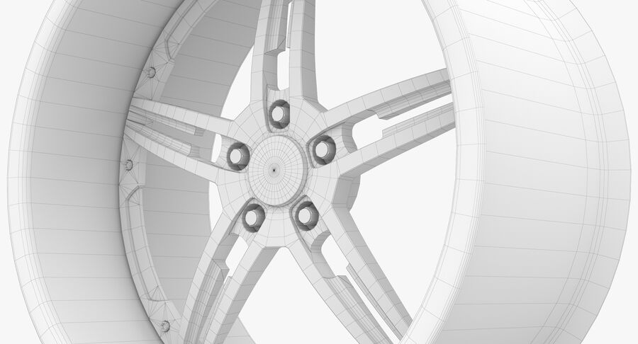Rims Collection - Asanti & Brabus & HRE & Lexani & Rotiform & Vossen & Vorsteiner & WALD royalty-free 3d model - Preview no. 72