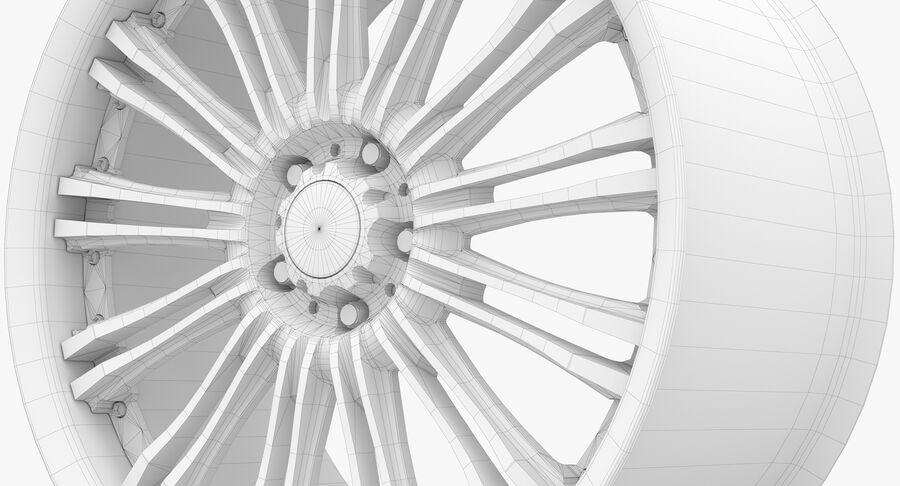 Rims Collection - Asanti & Brabus & HRE & Lexani & Rotiform & Vossen & Vorsteiner & WALD royalty-free 3d model - Preview no. 88