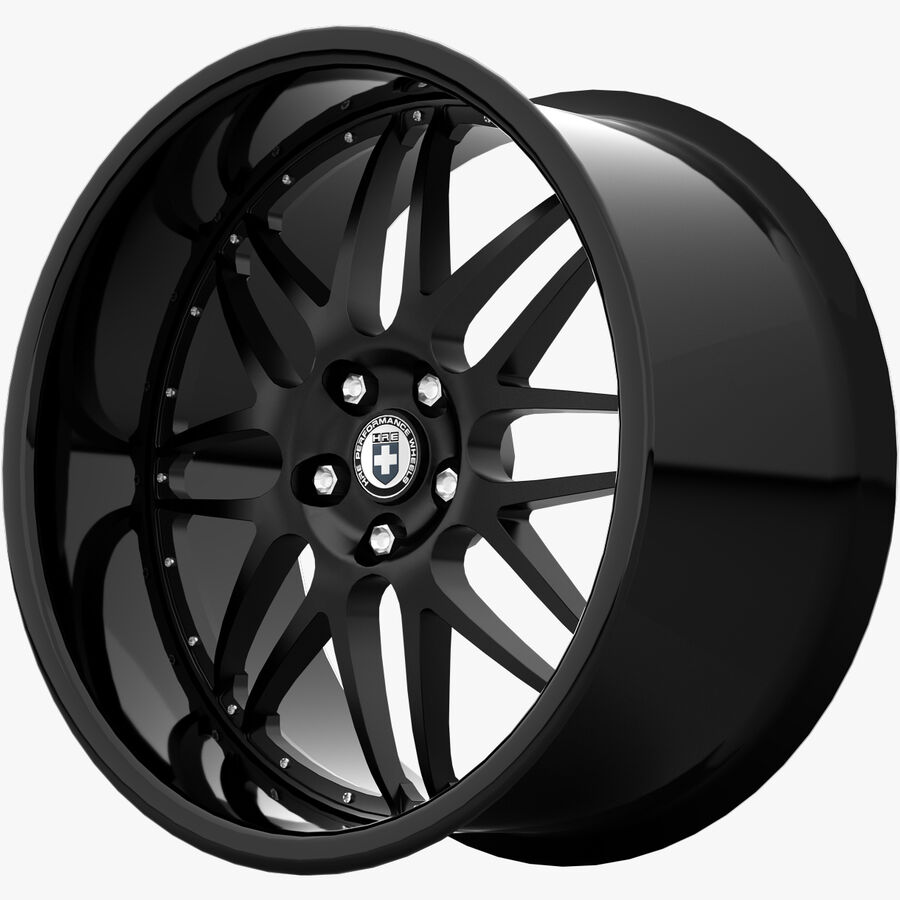 Rims Collection - Asanti & Brabus & HRE & Lexani & Rotiform & Vossen & Vorsteiner & WALD royalty-free 3d model - Preview no. 33