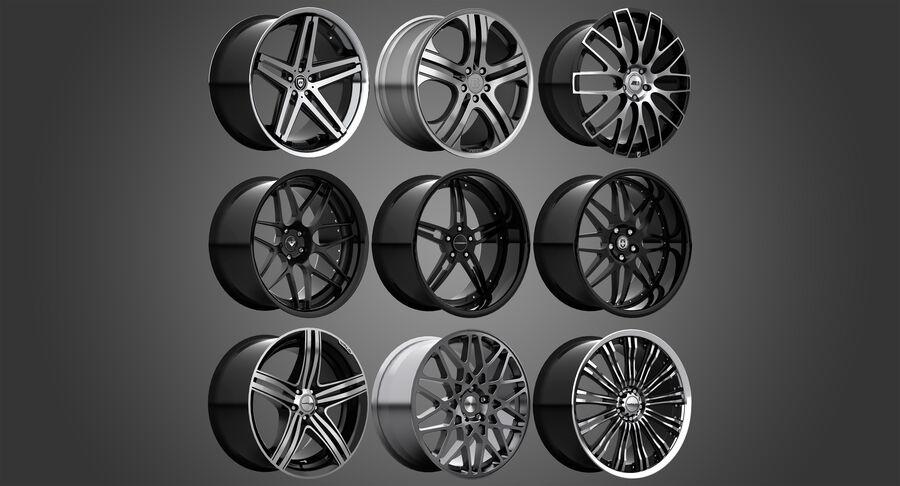 Rims Collection - Asanti & Brabus & HRE & Lexani & Rotiform & Vossen & Vorsteiner & WALD royalty-free 3d model - Preview no. 2