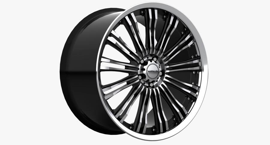 Rims Collection - Asanti & Brabus & HRE & Lexani & Rotiform & Vossen & Vorsteiner & WALD royalty-free 3d model - Preview no. 48