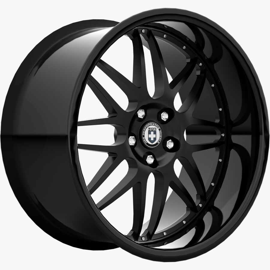 Rims Collection - Asanti & Brabus & HRE & Lexani & Rotiform & Vossen & Vorsteiner & WALD royalty-free 3d model - Preview no. 32