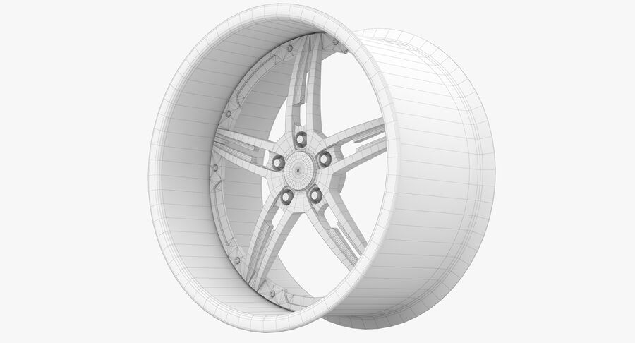 Rims Collection - Asanti & Brabus & HRE & Lexani & Rotiform & Vossen & Vorsteiner & WALD royalty-free 3d model - Preview no. 71