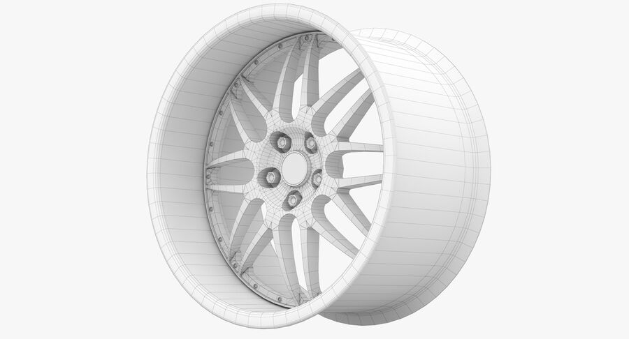 Rims Collection - Asanti & Brabus & HRE & Lexani & Rotiform & Vossen & Vorsteiner & WALD royalty-free 3d model - Preview no. 75
