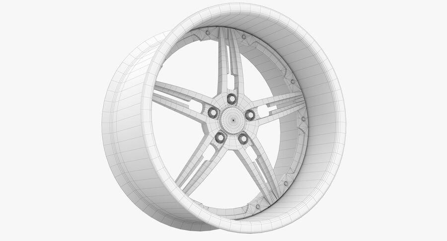 Rims Collection - Asanti & Brabus & HRE & Lexani & Rotiform & Vossen & Vorsteiner & WALD royalty-free 3d model - Preview no. 70