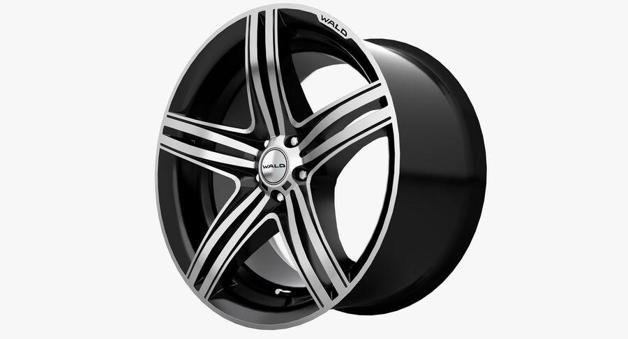 Rims Collection - Asanti & Brabus & HRE & Lexani & Rotiform & Vossen & Vorsteiner & WALD royalty-free 3d model - Preview no. 38