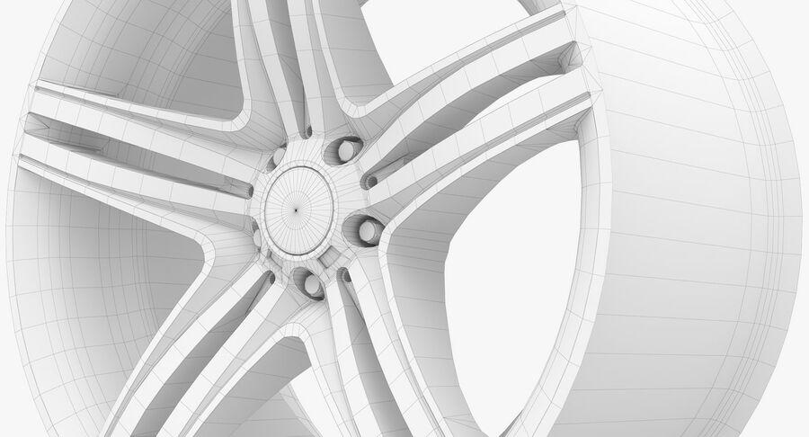 Rims Collection - Asanti & Brabus & HRE & Lexani & Rotiform & Vossen & Vorsteiner & WALD royalty-free 3d model - Preview no. 80
