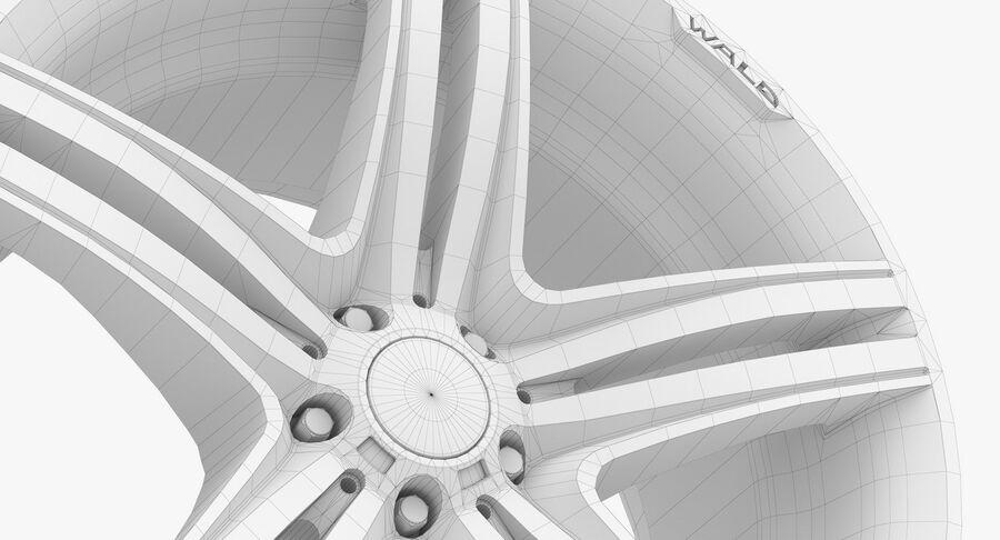 Rims Collection - Asanti & Brabus & HRE & Lexani & Rotiform & Vossen & Vorsteiner & WALD royalty-free 3d model - Preview no. 81
