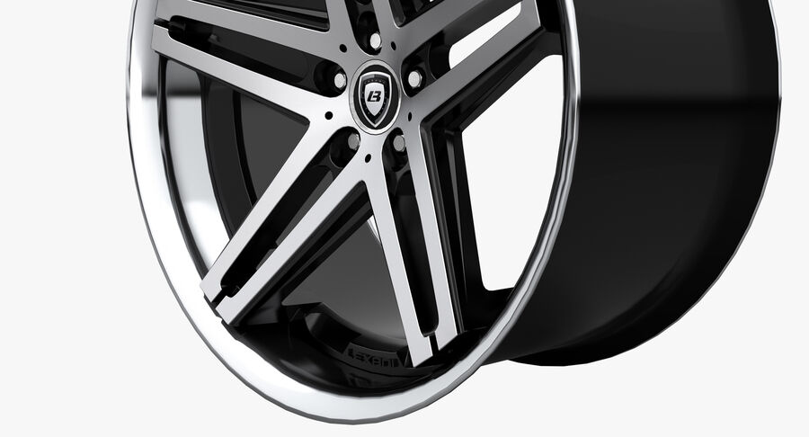Rims Collection - Asanti & Brabus & HRE & Lexani & Rotiform & Vossen & Vorsteiner & WALD royalty-free 3d model - Preview no. 7