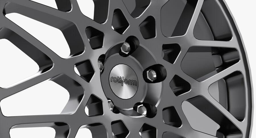 Rims Collection - Asanti & Brabus & HRE & Lexani & Rotiform & Vossen & Vorsteiner & WALD royalty-free 3d model - Preview no. 46