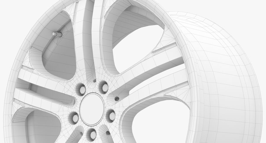 Rims Collection - Asanti & Brabus & HRE & Lexani & Rotiform & Vossen & Vorsteiner & WALD royalty-free 3d model - Preview no. 61